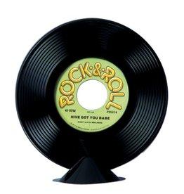 Plastic Record Centerpiece