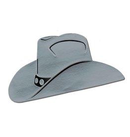 Cowboy Hat Cutout - Silver