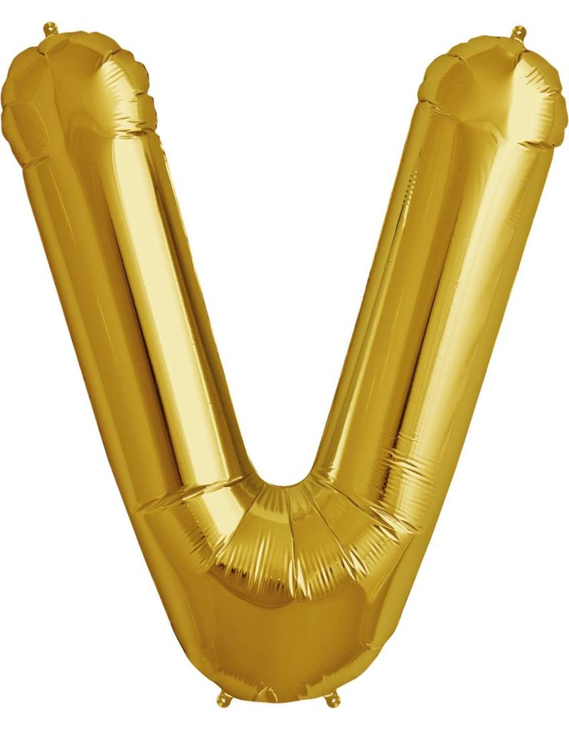 "34"" Gold Foil V Balloon"