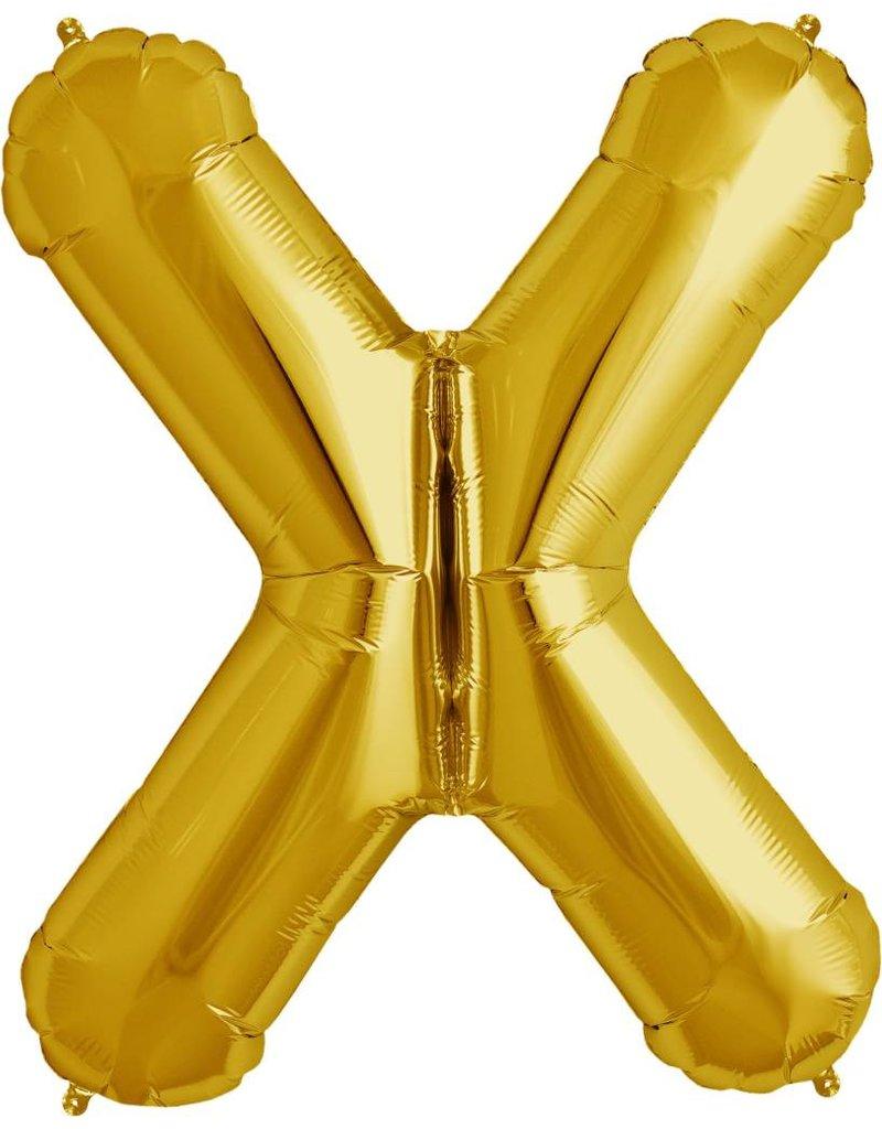 "34"" Gold Foil X Balloon"