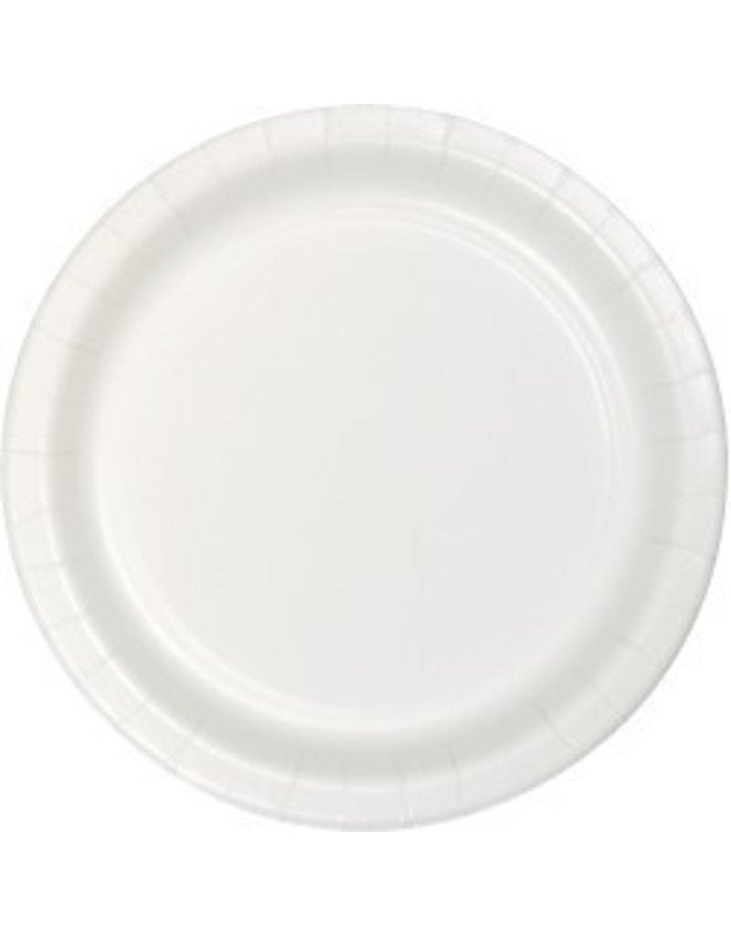 """9"""" Round Plates White"""