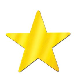 Gold Foil Star Cutout - 5""