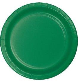 "9"" Round Plates Emerald Green"