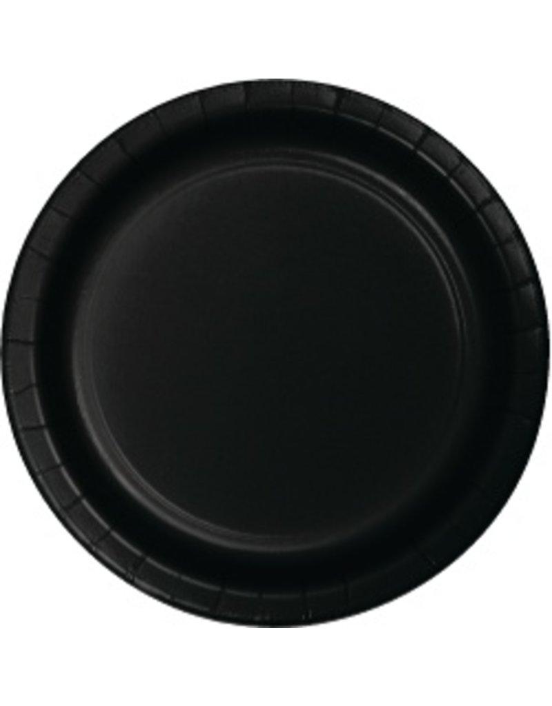 """9"""" Round Plates Black Velvet"""