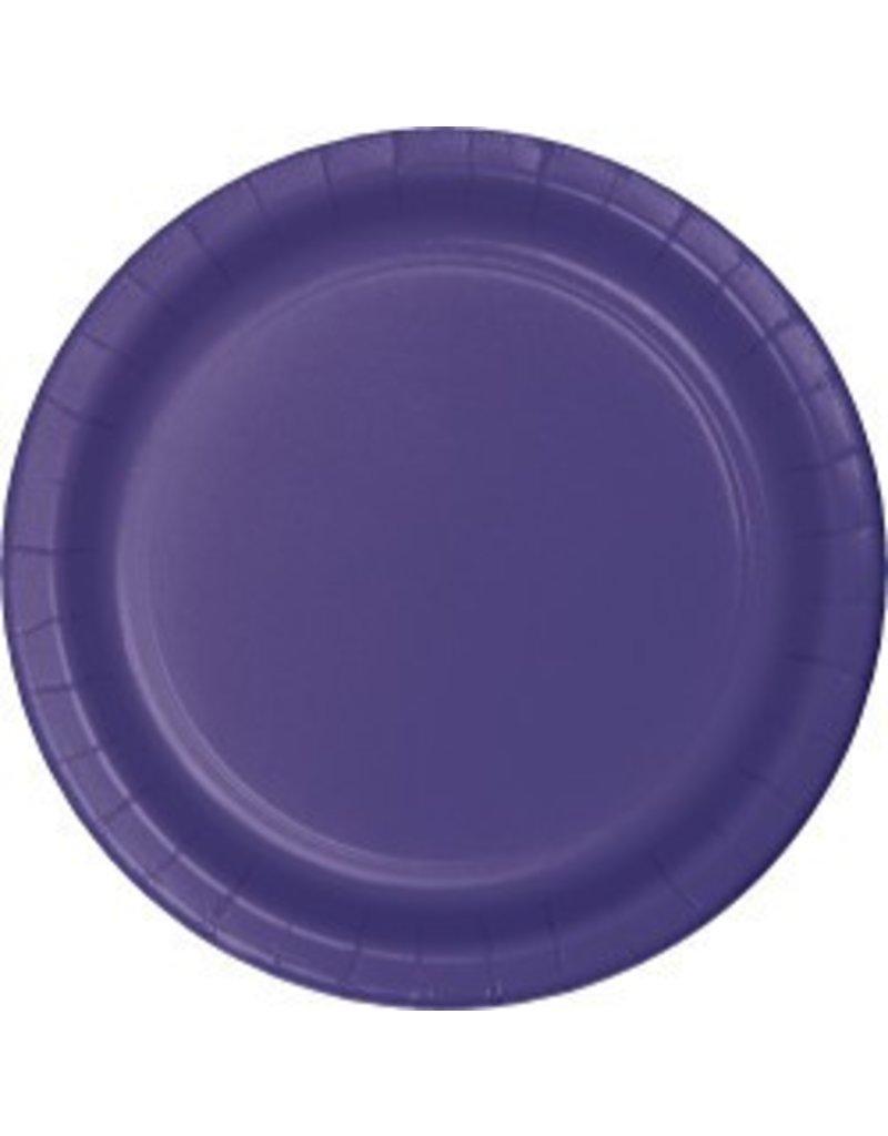 "9"" Round Plates Purple"
