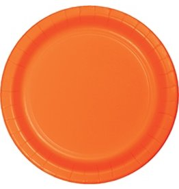 "9"" Round Plates Sunkissed Orange"
