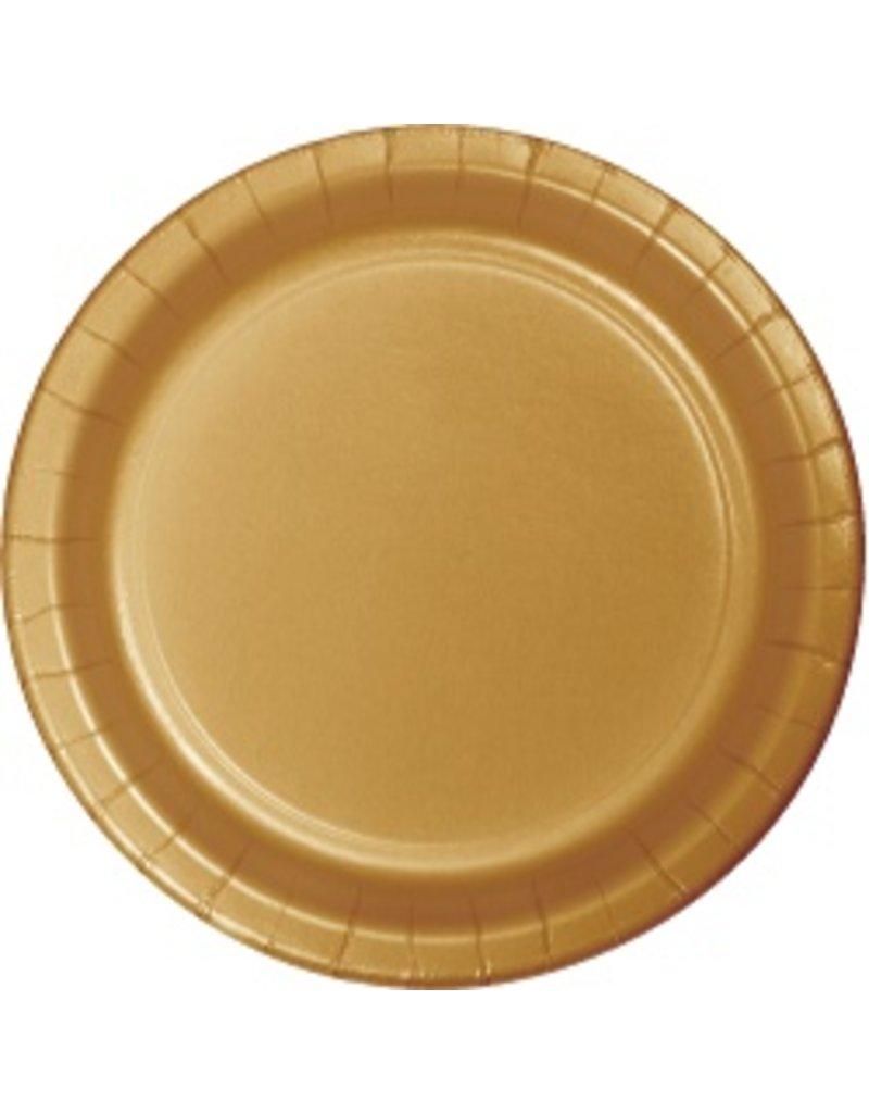 "9"" Round Plates Glittering Gold"