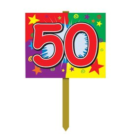 Happy 50th Birthday Sign