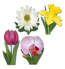 Classic Flower Cutouts-4 pieces