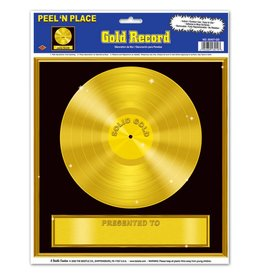 Gold Record Peel N' Place