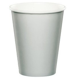 Paper Cups Shimmering Silver
