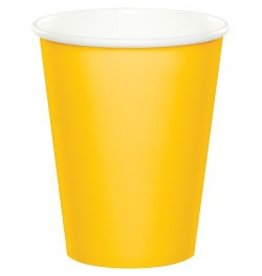 Paper Cups School Bus Yellow