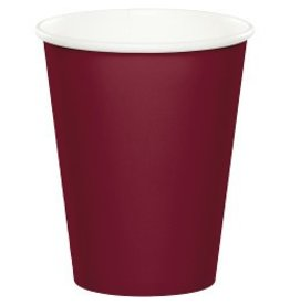 Paper Cups Burgundy