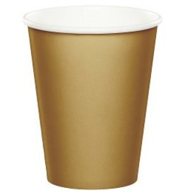 Paper Cups Glittering Gold