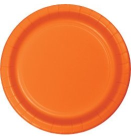 "7"" Round Plates Sunkissed Orange"