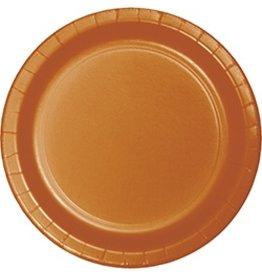 """7"""" Round Plates  Pumpkin Spice"""