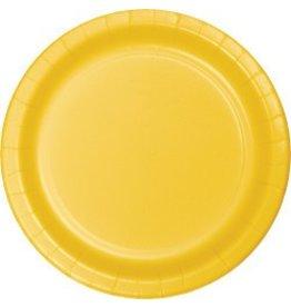 "7"" Round Plates  School Bus Yellow"