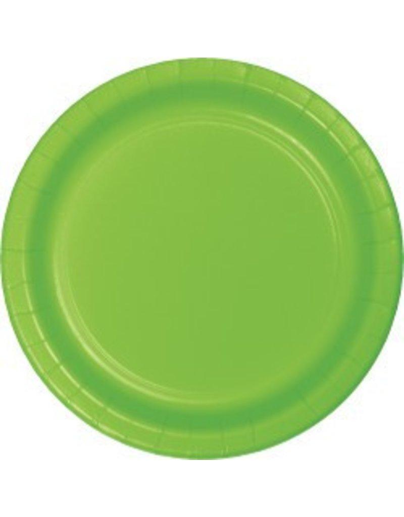 "7"" Round Plates  Fresh Lime"