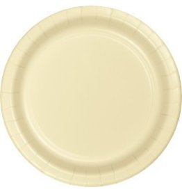 "7"" Round Plates  Ivory"
