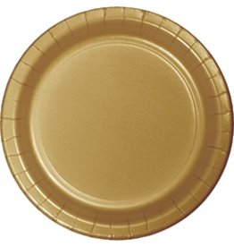 "7"" Round Plates  Glittering Gold"