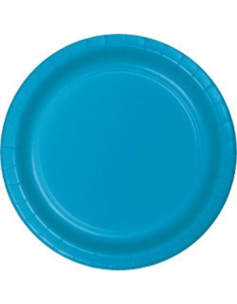 "7"" Round Plates  Turquoise"