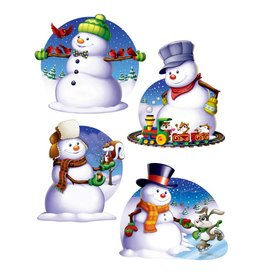 Snowman Cutouts-4 Pieces