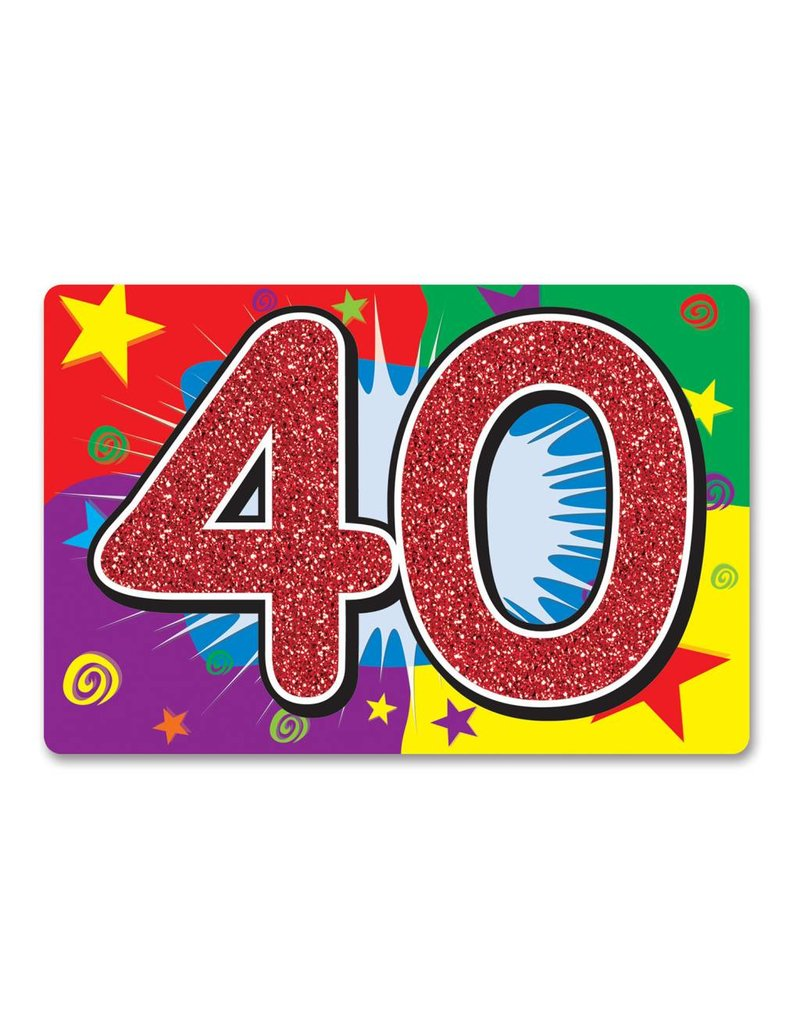 40TH Glitter Sign