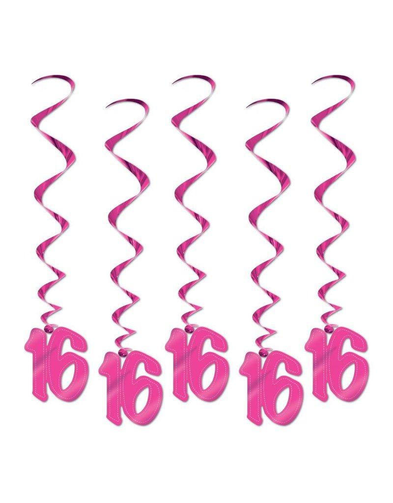 16 Whirls - Pink