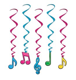 Musical Note Whirls- Neon