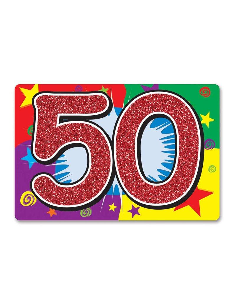 50 Glitter Sign