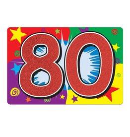 80 Glitter Sign