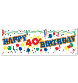 Happy 40TH Birthday Banner