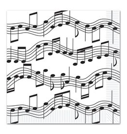 Music Note Luncheon Napkins