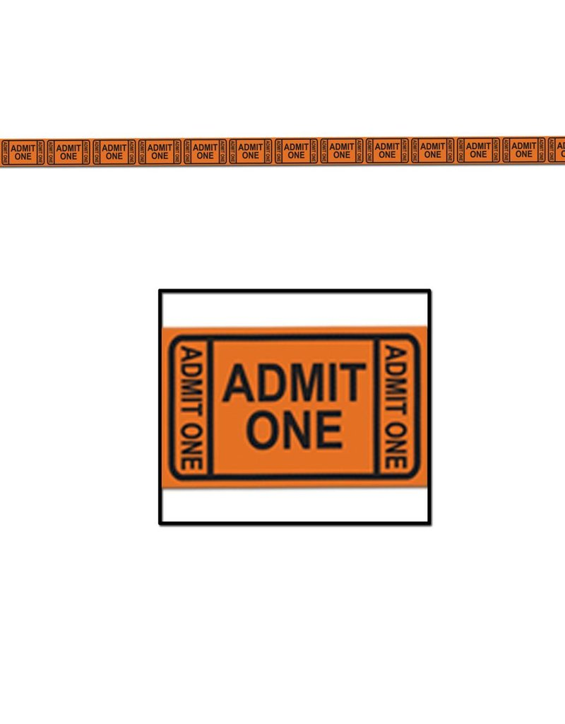 Admission Ticket Tape