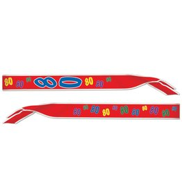 80th Birthday Sash-One Size Fits Most
