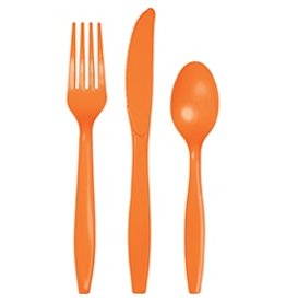 Cutlery Sunkissed Orange