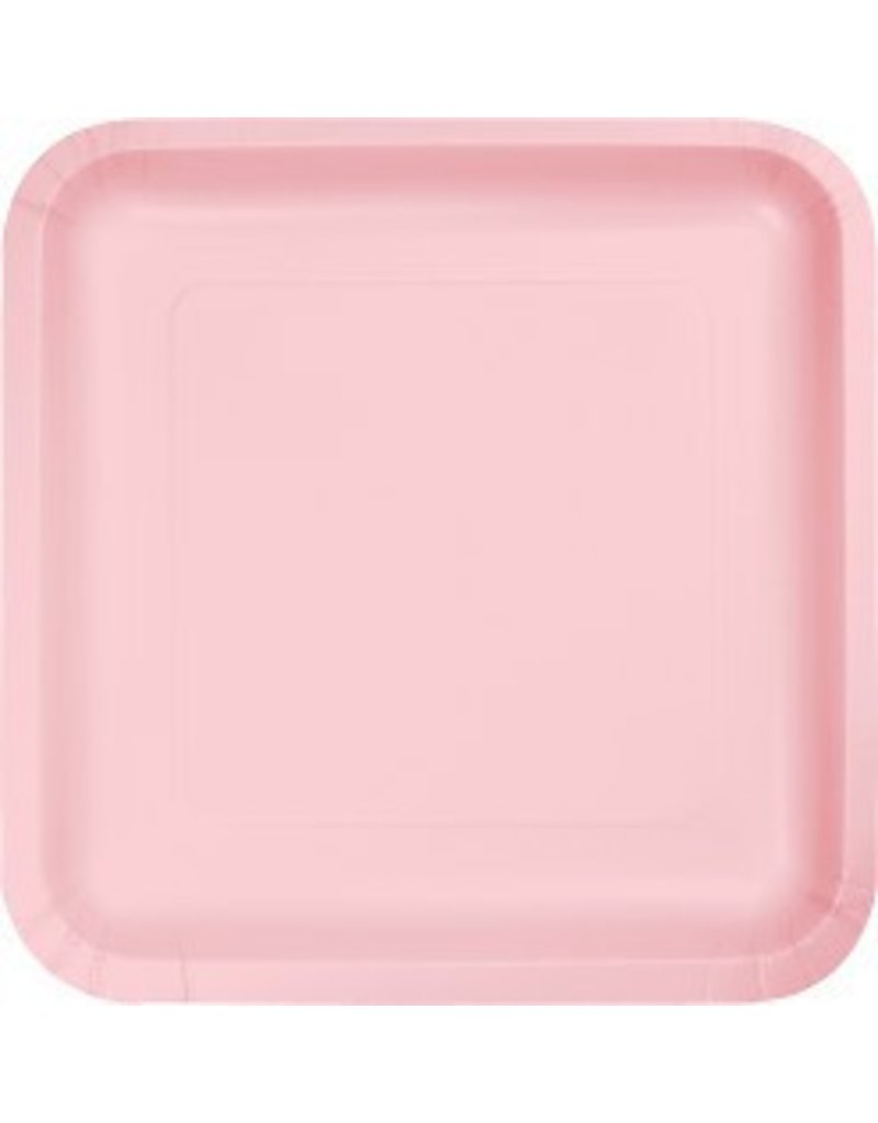 "9"" Square Plate Classic Pink"