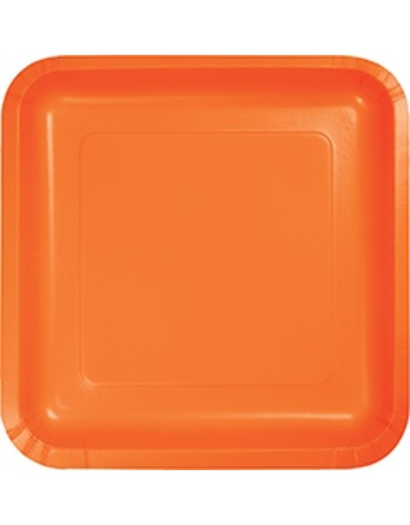 "9"" Square Plate Sunkissed Orange"