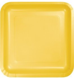 "9"" Square Plate School Bus Yellow"