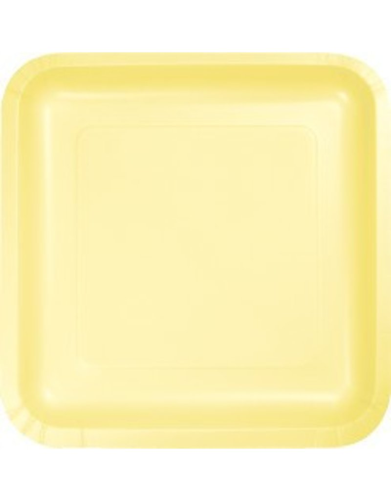 """9"""" Square Plate Mimosa Yellow"""