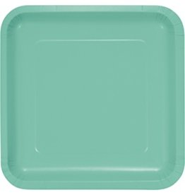 "9"" Square Plate Fresh Mint"