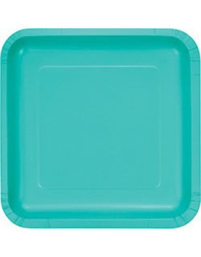 """9"""" Square Plate Teal Lagoon"""