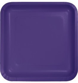 "9"" Square Plate Purple"