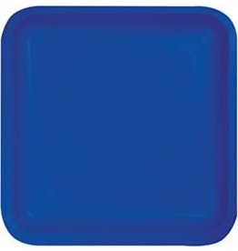 "9"" Square Plate Cobalt"