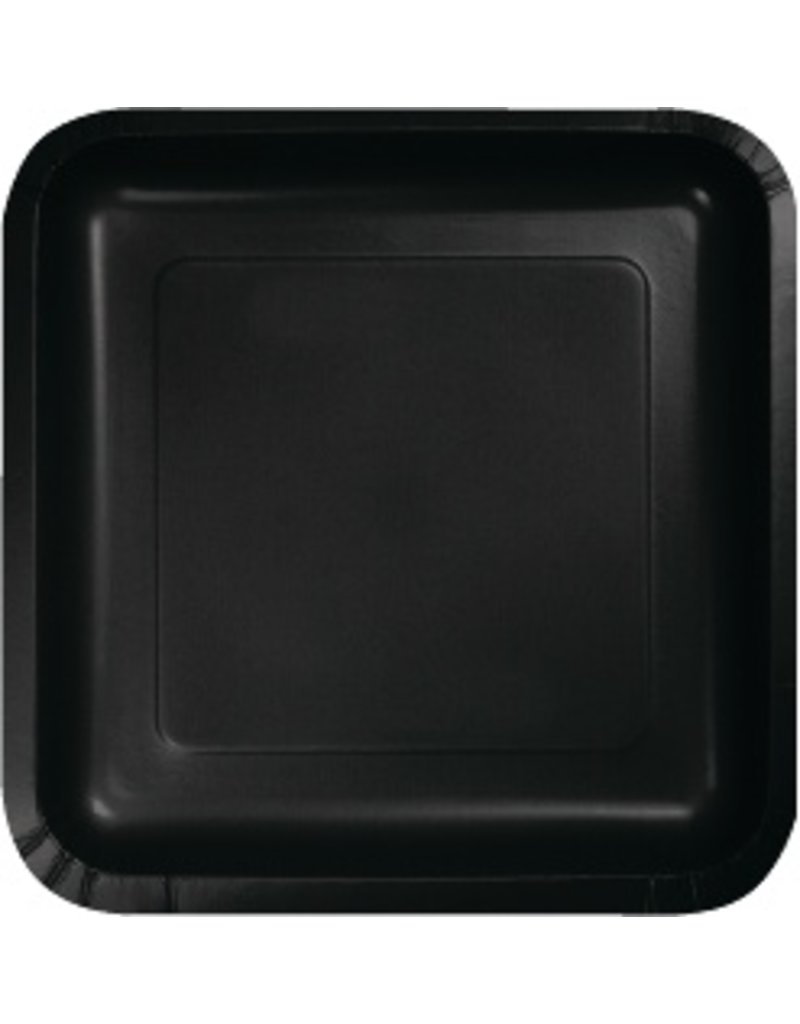 """9"""" Square Plate Black Velvet"""