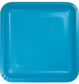 "9"" Square Plate Turquoise"