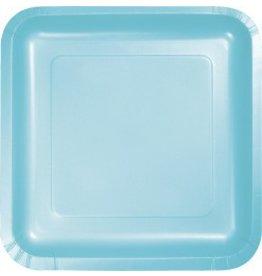 "Square Plate 9"" Pastel Blue"