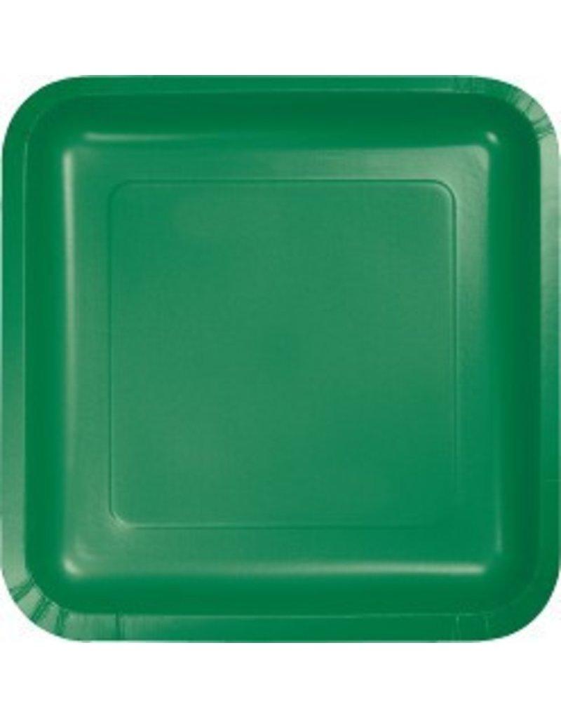 """9"""" Square Plate Emerald Green"""