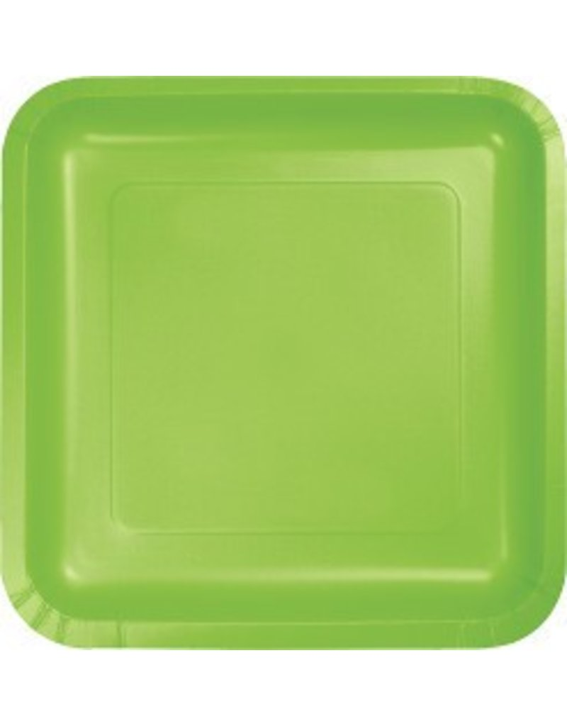 "9"" Square Plate Fresh Lime"