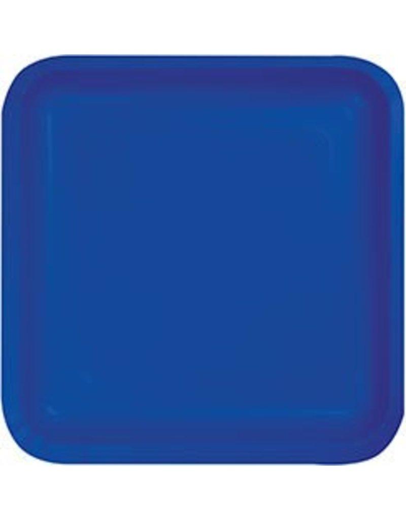 """7"""" Square Plates Cobalt"""